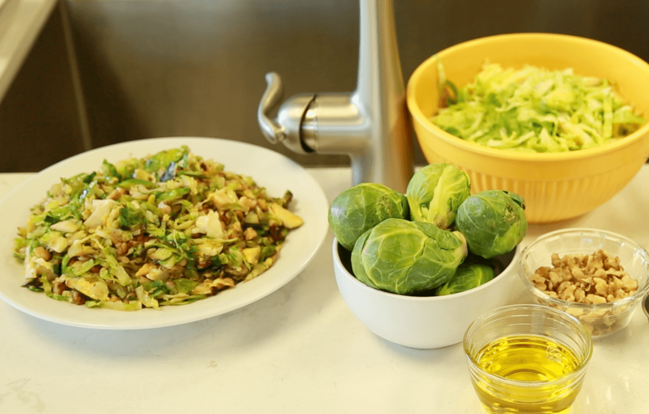 Delicious Hazelnut & Brussels Sprouts Recipe (Watch Video)