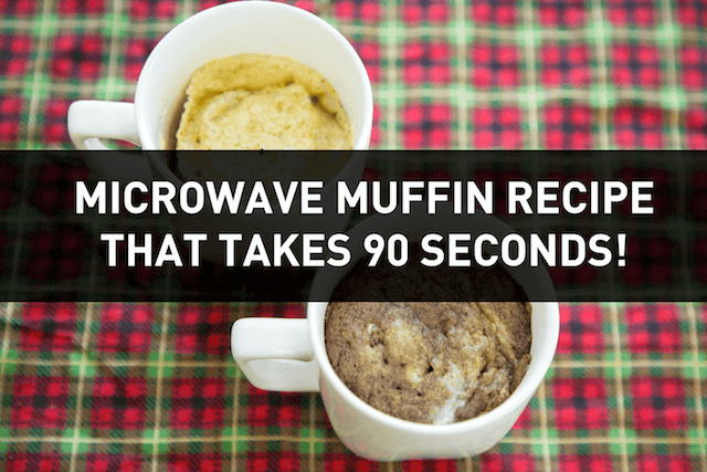 Gluten Free Muffin You Make In The Microwave [90 secs]