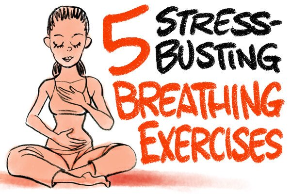 5 Stress Relief Breathing Exercises (in 5 minutes or less you'll be stress free!)